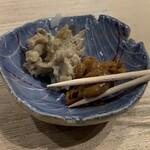 第三春美鮨 - 塩辛と山葵漬け