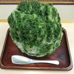 御福餅 本家 - 濃厚抹茶かき氷(餡ソースなし)