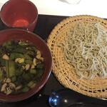 蕎麦 魯庵 - こくうま‼︎鴨蕎麦(冷)@1,100円