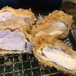 豚食健美 優膳 - 左:ヒレカツ 右:地鶏