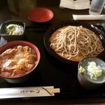 そば房さわ - 料理写真:親子セット(もりそば) ¥900-