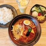 Soup Curry 笑くぼ - 笑くぼ特製スープカレーランチ