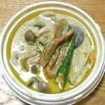 うめやんKitchen直売所 - 料理写真:季節野菜とホタテのグリーンカレー