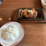 ハンバーグ 葡萄家 - 和風ハンバーグとセットのライス('20/09/06)