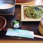 霧の森レストラン - 茶そばとおぼろ豆腐のセット♪