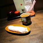 13617033 - おしぼり&お茶