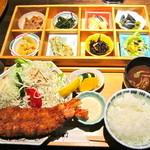 13617035 - おばん菜御膳 特大エビフライ