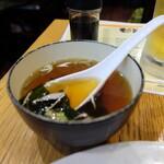 焼麺 - セットのスープ