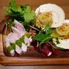 LINCE - 料理写真:前菜3種盛り合わせ1400円 葉っぱの下にはポテトサラダも