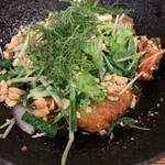 BIA HOI CHOP - チャーカー、白身魚をターメリックで下味付け、デイル揚げしたもの、おつまみに良い感じです