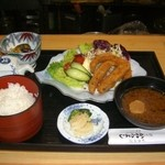かわらよし - 料理写真:水曜昼の日替わり定食は揚物