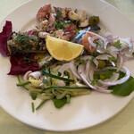 フラスカティ - 料理写真:西浦漁港、魚介類の取り合わせアンティパストミストマーレ