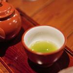 """楽風 - """"八女茶(やめちや)""""の""""玉露(ぎよくろ)""""、、第三煎(だいさんせん)"""