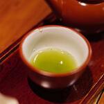 """楽風 - """"八女茶(やめちや)""""の""""玉露(ぎよくろ)""""、第ニ煎(だいにせん)"""