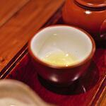 """楽風 - """"八女茶(やめちや)""""の""""玉露(ぎよくろ)""""、第一煎(だいゝつせん)"""