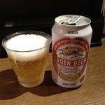 旨辛ラーメン 味一 - ビール