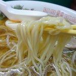 六盛 - 中華ソバの低加水ストレート麺、中細。