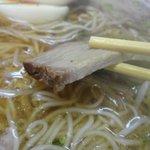 六盛 - 中華ソバとラーメンは豚チャーシュー2枚。