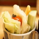 新宿 立吉 - 生野菜スティック