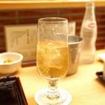 新宿 立吉 - スーパーニッカ ダブル と ウィルキンソン炭酸水
