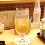 新宿 立吉 - スーパーニッカ ダブル と ウィルキンソン炭酸水 2杯目