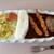ビストロ 傳刀 - 料理写真:黒部ダムカレー。エビフライ・ハンバーグ両方トッピング仕様
