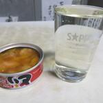 笹屋 - 人気一 黒人気(350円)とサービスの缶詰