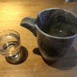 一二三本店 - 栄川の冷や すっきりした純米で、うなぎの脂をさっぱりさせてくれました