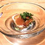 焼き鳥 とりら -  ムネ肉ポン酢ジュレかけ