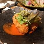 Sushinakago - 蟹クリームコロッケ 蟹味噌ソース