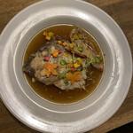 中華バルSAISAI。 - 鯛の頭のカルパッチョ。       ん、違う!アクアパッツァでしたー(*^^*)