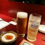 136272156 - お通しがお寿司!と ジーマミ豆腐だぁ