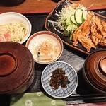 カフェ&スナック うめ - 生姜焼き定食900円