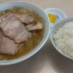 ほうれんそう - 料理写真:チャーシュー麺+ライス