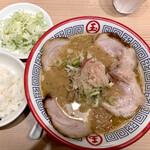東京煮干し らーめん玉 - 肉とろりそば 1,020円 ライス150円 ネギ100円