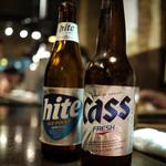 でりかおんどる - 韓国ビール「カス」と「ハイト」は呑みやすいです