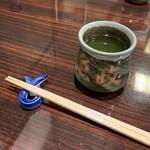 136290916 - お茶と鰻の箸置き