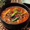 母韓の台所 - 料理写真:ユッケジャンスープ 920円 牛肉と野菜が入った、赤唐辛子ベースのスープです。