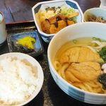 白滝 - 冷きつね(500円)+定食(300円)