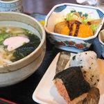白滝 - おむすび定食(700円)