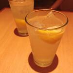 136311342 - レモンサワー!甘くて飲みやすい!
