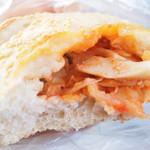 ノモケマナ - きのことレンズ豆のカルツォーネの断面 '12 4月