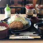 米米麦麦 - 黒豚メンチカツ膳¥1,474
