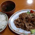 晴山閣 - ロース焼肉