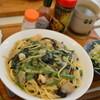 ぼんじゅーる - 料理写真:ほうれん草ときのこスパゲッティ