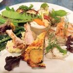 オステリアベーネ - お肉、お魚方面アップ
