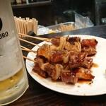 焼鳥 吉田屋 - 本場★室蘭焼鳥でビールがすすむ。