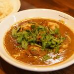sync curry sapporo - 料理写真:syncの代表作『牡蠣とクレソンのカレー』