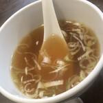 林華苑 - 付け添えの中華スープ