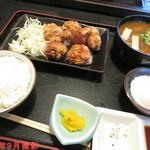 重信うどん - からあげ定食(カレーうどん) 880円+100円